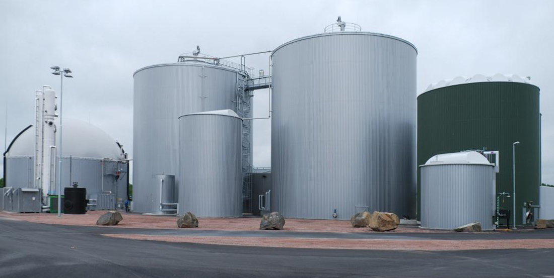 gas holders, heat exchangers, biogas